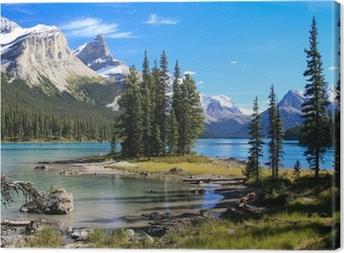 Spirit Island auf dem Maligne Lake Canvas Print