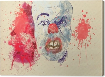 spooky halloween clown Canvas Print