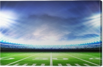 stadium american Canvas Print