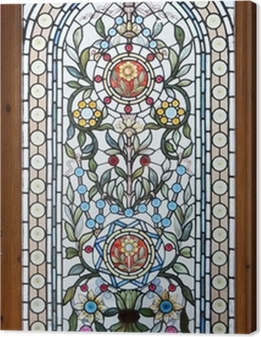 stained lead window Canvas Print