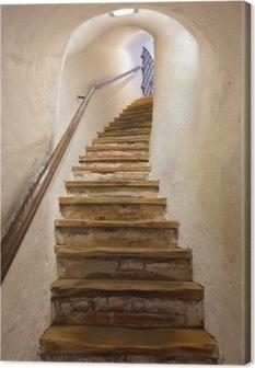 Stairs in Castle Kufstein - Austria Canvas Print