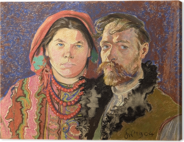 Stanisław Wyspiański - Portrait of the Artist and His Wife Canvas Print - Reproductions