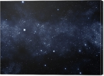 starfield milky way Canvas Print