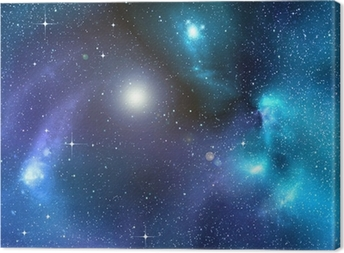 starry background of deep outer space Canvas Print