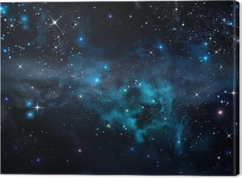 starry sky in the open space Canvas Print