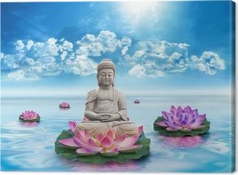 Statue Bouddha Canvas Print