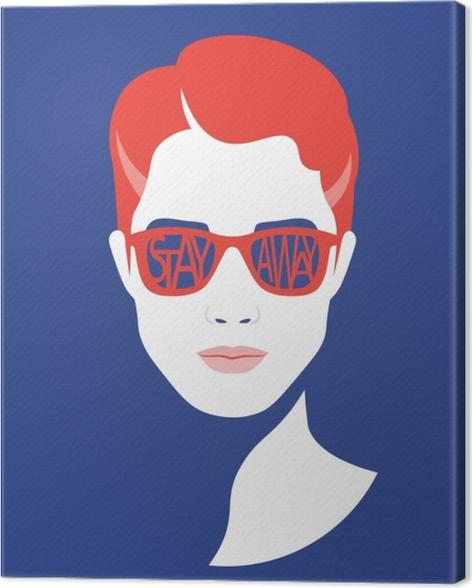 Stay away Canvas Print - Demotivational