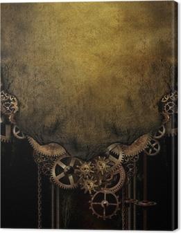 Steampunk Background Canvas Print