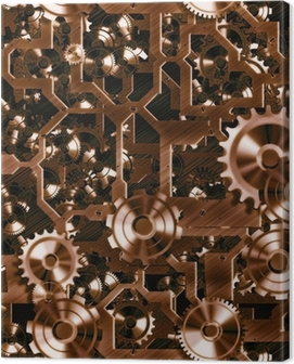 steampunk cogs and gears Canvas Print