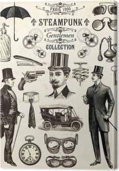 Steampunk gentlemen collection Canvas Print
