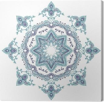 Stencil Mandala Indian Design Canvas Print