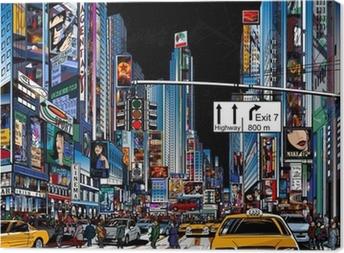 street in New York city Canvas Print