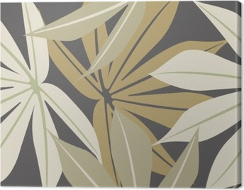 Stylish seamless pattern with tropical leaves Canvas Print