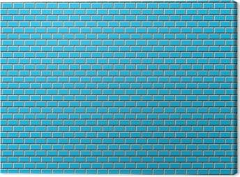 Subway Tile-Blue Canvas Print