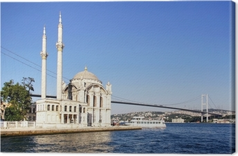 Summer at Ortakoy with Mecidiye Mosque Canvas Print