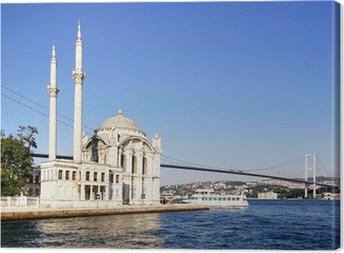 Summer at Ortakoy with Mecidiye Mosque Canvas Print