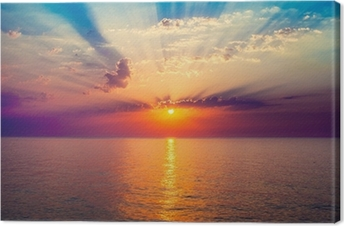 sunrise in the sea Canvas Print