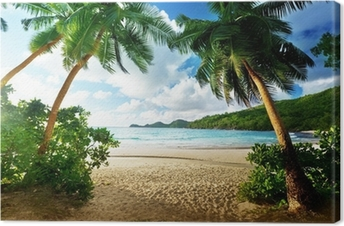 Sunset in the Seychelles Canvas Print