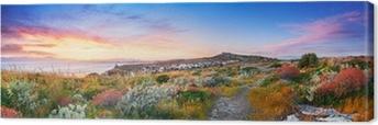 Sunset on the Mediterranean vegetation Canvas Print