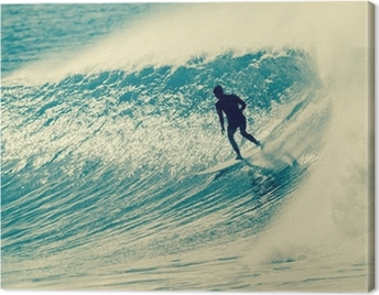 Surfing Surfer Riding Wave Canvas Print