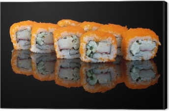 sushi with flying fish eggs Canvas Print