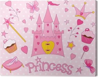 Sweet Princess Icons Canvas Print