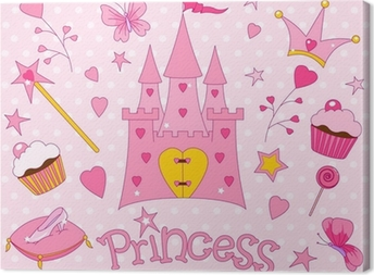 Sweet Princess Icons Canvas Print