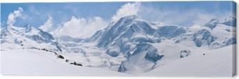 Swiss Alps Mountain Range Landscape Canvas Print