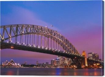 Sydney habour bridge - sydney city Canvas Print