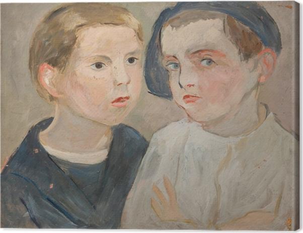 Tadeusz Makowski - Brothers Canvas Print - Reproductions