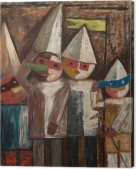 Tadeusz Makowski - Children's Carnival With a Flag Canvas Print