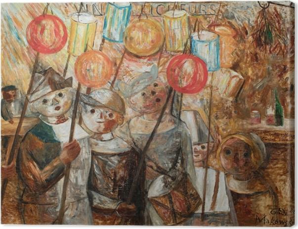 Tadeusz Makowski - Children With Torches Canvas Print - Reproductions