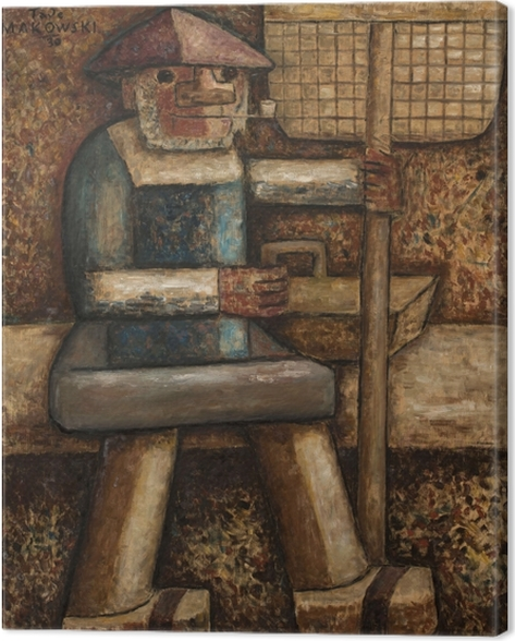 Tadeusz Makowski - Fisherman Canvas Print - Reproductions
