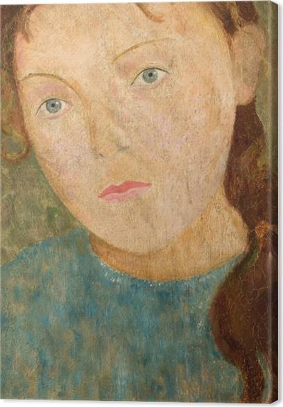 Tadeusz Makowski - Girl with a Red Braid Canvas Print - Reproductions