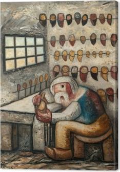 Tadeusz Makowski - Shoemaker Canvas Print