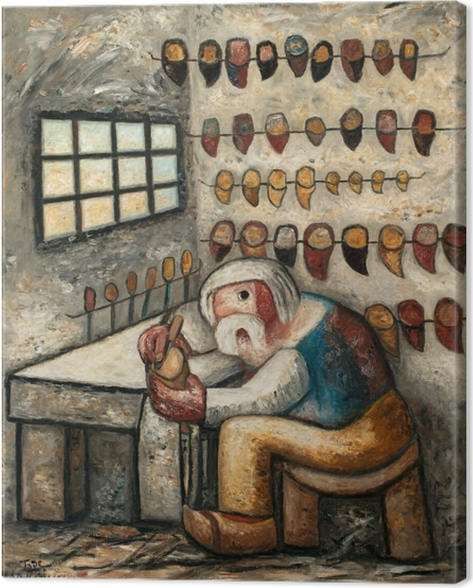 Tadeusz Makowski - Shoemaker Canvas Print - Reproductions