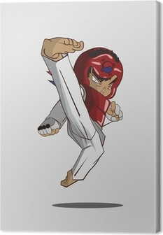 taekwondo martial art Canvas Print
