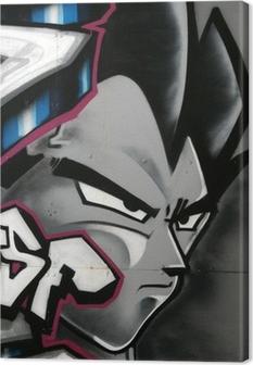 tag de personnage en couleur Canvas Print