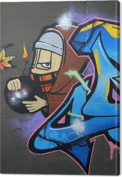 Tag, Graffiti ,bombe,mèche Canvas Print