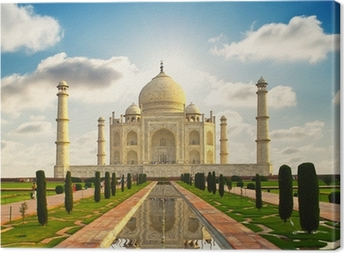 Taj Mahal in India Canvas Print