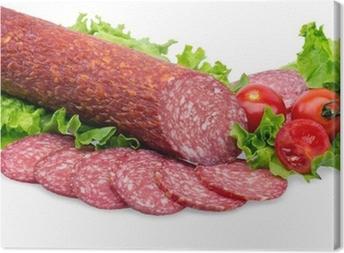 tasty red salami Canvas Print