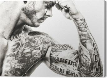 tattooed Canvas Print