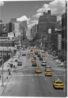 Taxi Drive Canvas Print