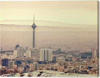 Tehran Skyline Canvas Print