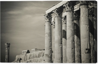 Temple of Olympian Zeus and Acropolis, Athens Canvas Print