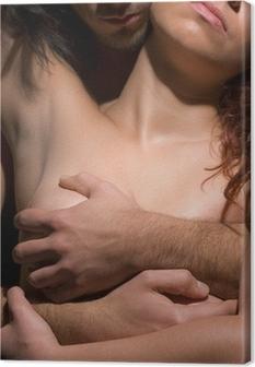 Temptation woman and man Canvas Print