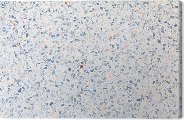 Terrazzo Flooring Old Texture Or Polished Stone For Background Pattern And Color Beautiful Canvas Print