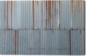 texture métal, tôle ondulée rouillée Canvas Print