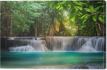 Thailand waterfall in Kanchanaburi (Huay Mae Kamin) Canvas Print
