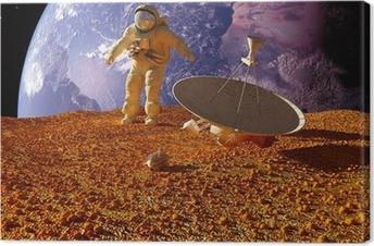 The astronaut Canvas Print